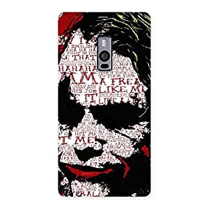 Gorgeous Premier Psyco Typo Multicolor Back Case Cover for OnePlus Two