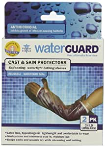 Waterguard Cast and Skin Protector, Child Long Arm, 2-Count Pack