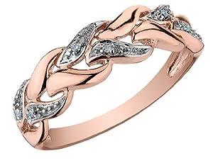 Diamond Ring in 10K Rose Gold, Size 8