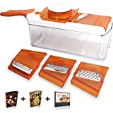 Adjustable Mandoline Slicer - 4 Blades - Vegetable Cutter, Peeler, Slicer, Grater & Julienne Slicer
