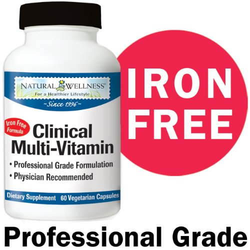 Natural Wellness Clinical Multi-Vitamin For Liver Support - 60 Capsules - 1 Month Supply