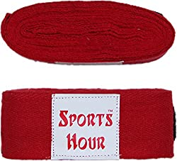 Sports Hour Boxing Hand Bandage,4.5 Meter (red)