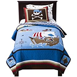 Circo 100% Cotton Pirate Quilt plus Sham Full/Queen Size
