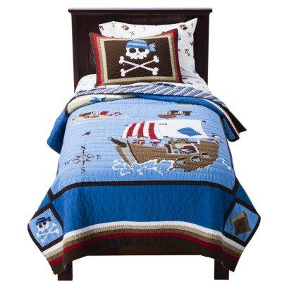 Circo 100% Cotton Pirate Quilt Plus Sham Twin Size front-996967