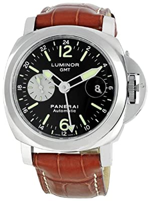 Panerai Men's PAM00088 Luminor GMT Black Dial Watch