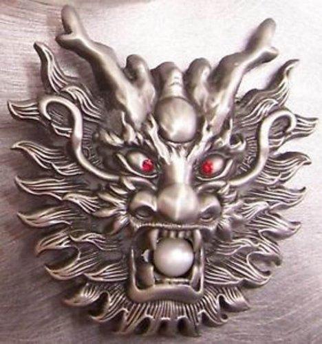 Pewter Belt Buckle Animal Dragon Head New