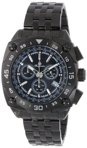 Burgmeister Men's Quartz Watch with Black Dial Analogue Display and Black Stainless Steel Plated Bracelet BM326-622A