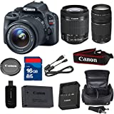 Canon SL1 Digital SLR Camera with EF-S 18-55mm f/3.5-5.6 IS STM Lens + 75-300mm III Zoom + High Speed 16GB Memory Card + High Speed Reader + 6pc Bundle - International Version