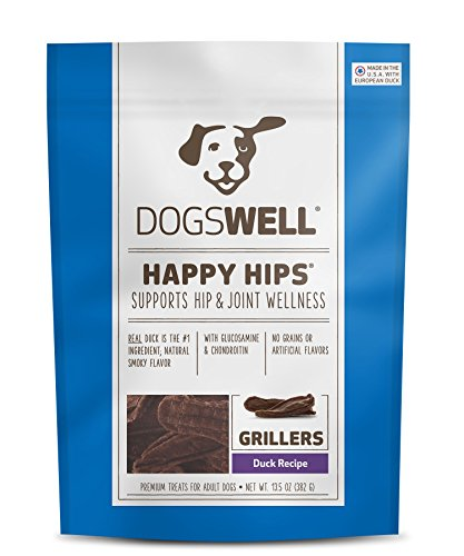 Dogswell Happy Hips Duck Grillers 13.5 oz - USA Made (Dogswell Duck Grillers compare prices)