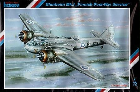 Special Hobby 72202 Bristol Blenheim Finnish Mk1b Finnish Post War Service 1:72 Plastic Kit Maquette