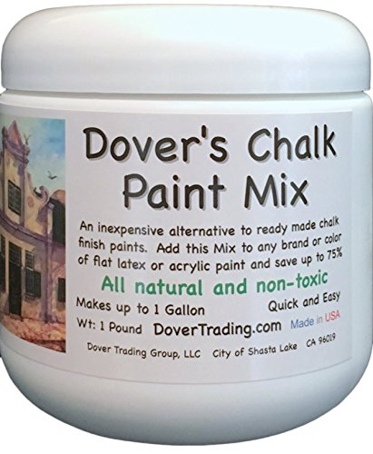Dover's Chalk Paint Mix - Inexpensively Transforms 1 Gallon of Any Color of Flat Latex Paint - 100% GUARANTEED - Just Mix, Brush On and Wax - Saves up to 75% Over Ready Made - Natural and Non Toxic - 2 Sizes