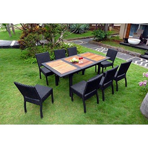 Gartenmöbel Teak und Kunstharz, 8 Sitzer Limbok, Rattan kaufen