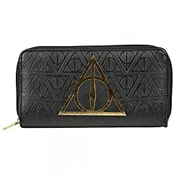 Harry Potter Womens Deathly Hallows Zip Around Envelope Clutch Wallet