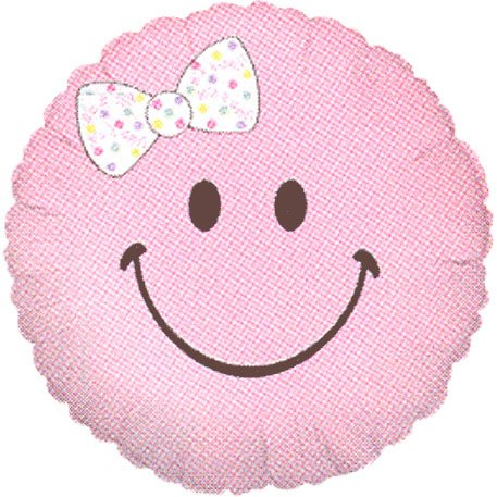 Smiley Baby Girl Micro Balloon (1 ct) - 1