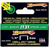 Arrow 214 Genuine JT21/T27 1/4-Inch Staples, 1,000-Staples