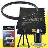55mm UV Filter for Sony Alpha SLT-A37 with Sony 18-70mm DT Lens + DavisMAX Fibercloth Deluxe Filter Bundle sale 2015