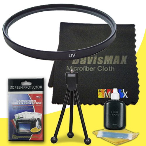 55mm UV Filter for Sony Alpha SLT-A37 with Sony 18-70mm DT Lens + DavisMAX Fibercloth Deluxe Filter Bundle coupon codes 2015