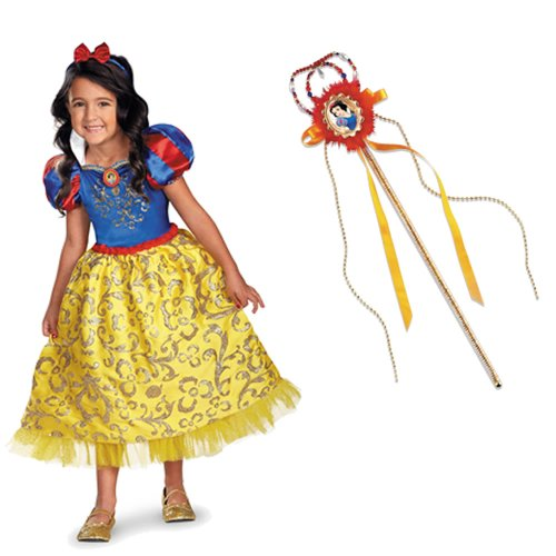 Disney Snow White Deluxe Sparkle Toddler/Child Costume With Tiara and Wand