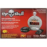 Sonic Alert The Skull With Bone Crusher, Silver and Black