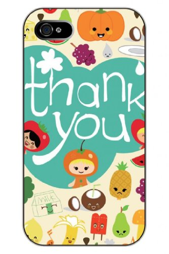 SPRAWL New Fashion Design Hard Skin Case Cover Shell for mobilephone Apple Iphone 5 I5--Say thank you for the fruit