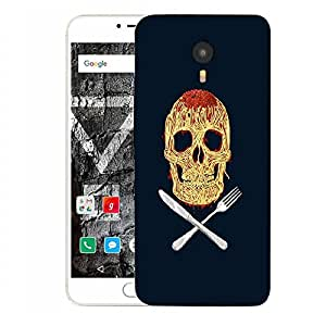 Snoogg Skully Noodles Designer Protective Back Case Cover For YU YUNICORN
