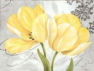 Amazon.com - Colori Yellow Ii - Mini Vintage Best Postcard Cool Daisy