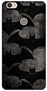 The Racoon Grip Bat Pattern hard plastic printed back case / cover for Letv Le 1s
