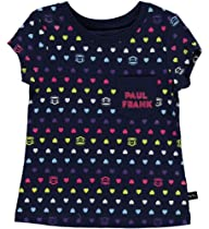 Paul Frank Girls Heart Print Tee