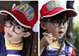 コスプレ小物  アラレちゃん風 帽子+眼鏡 キャップ  2号色 ハット  ハロウィン  日除け帽子 成人版 コスプレ道具