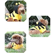 HuntGold Cute Lovely Pet Puppy Dog Cat Supplies Cloth Bumble Bee Design Dress Up Costume(6#)