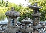 """Stone Age Creations LA-GB-17 Granite 17"""" Boulder Lantern Natural Stone"""