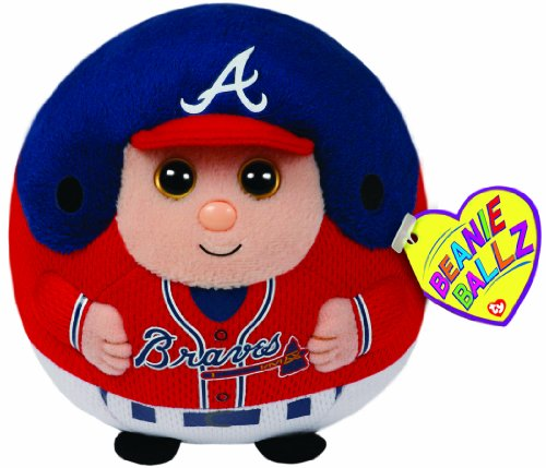 Ty Beanie Ballz Mlb Atlanta Braves Plush front-674271