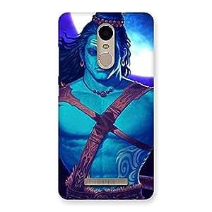 Cute Warior Shiva Blue Back Case Cover for Xiaomi Redmi Note 3