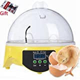 Digital Auto Temperature Small Brooder 7 Mini Egg Incubator Hatchers for Chicken Birds Pigeon Quail