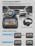 2-x-EinCar-9-Zoll-Digital-Display-Bildschirm-Kopfsttzen-DVD-Player-Monitor-Untersttzung-USB-SD-IR-FM-Transmitter-mit-Video-Game-Controller