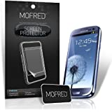 MOFRED® 6 in Pack Screen Protector Value Pack For Samsung Galaxy S3 III i9300 Retail Packed with Cleaning Cloth And Application Card
