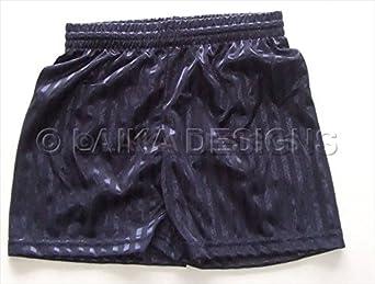 School Uniform Sports P.E. Football Shadow Stripe Shorts - Boys & Girls Black L -