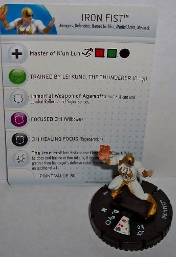 Heroclix Fear Itself #007 Iron Fist Figure with Card