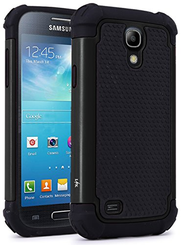 S4 Mini Case, LK [Drop Protection] Shock Absorption Hybrid Dual Layer Armor Defender Protective Case Cover for Samsung Galaxy S4 Mini (Black) (Samsung Galaxy S4 Drop Protection compare prices)