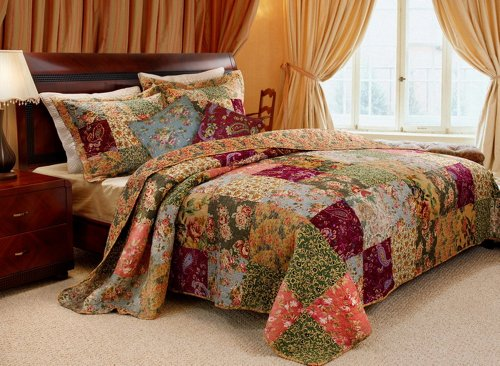 French Country Patchwork Quilt Bedding Set Full/Queen