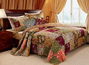 French Country Patchwork Quilt Set