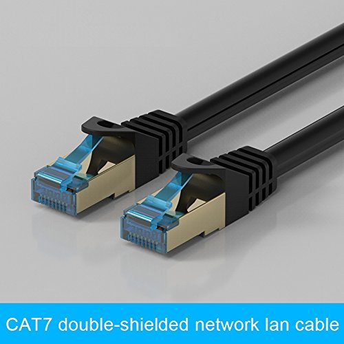 GadgetsAccessories CAT7 1M / 1 Meter Shielded RJ45 Ethernet Patch Network Cable Professional Gold Plated Plug STP Wires Cat 7 Networking Cable Premium/ Patch/ Modem/ Router/ LAN / ADSL (Backwards Compatible with Cat 6, Cat 5, Cat 5e)  available at amazon for Rs.299