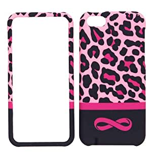 Cell Armor Snap-On Cover for iPhone 5C - Retail Packaging - Pink Leopard with Infinity Logo