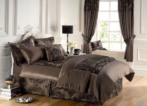 Royal Armask Bedspread Set King Size 3 Pcs Chocolate Quilted Luxury