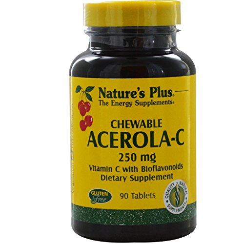 Nature's Plus - Acerola C Chewable, 250 mg, 90 chewable tablets
