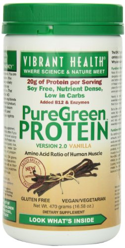 Vibrant Health Puregreen Protein, Vanilla, 16.58-Ounces