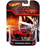 Hot Wheels Hot Wheels Entertainment Vehicle - Koenigsegg Agera R - Need for Speed Die Cast Vehicle (Color: Red, Tamaño: 1:64 Scale ~ 3