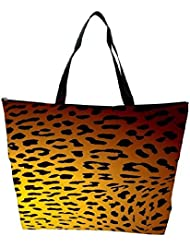 Snoogg Leopard Print Waterproof Bag Made Of High Strength Nylon