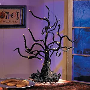 Wire Ghost Tree with LED Lights - Halloween Decor