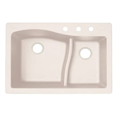 Swaoi|#Swanstone QZ03322LS.076-3 22-In X 33-In Granite Kitchen Sink 3-Hole, Granito,